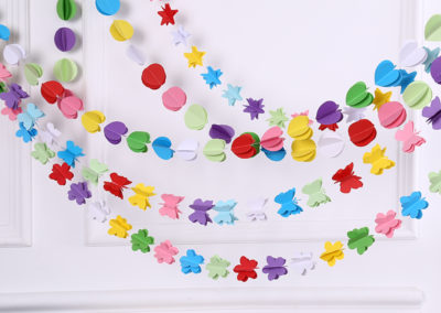Hot-sale-1pc-Colorful-Hanging-Paper-Garlands-Flora-String-Wedding-Party-Birthday-Baby-Decoration-Round-Shape