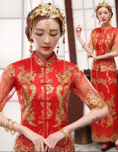 Chinese-style-Tang-suit-Married-the-bride-Female-Long-design-Chinese-traditional-dress-Chinese-wedding-dress